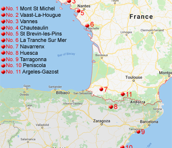 Richard's Favourite French and Spanish Campsites & Locations